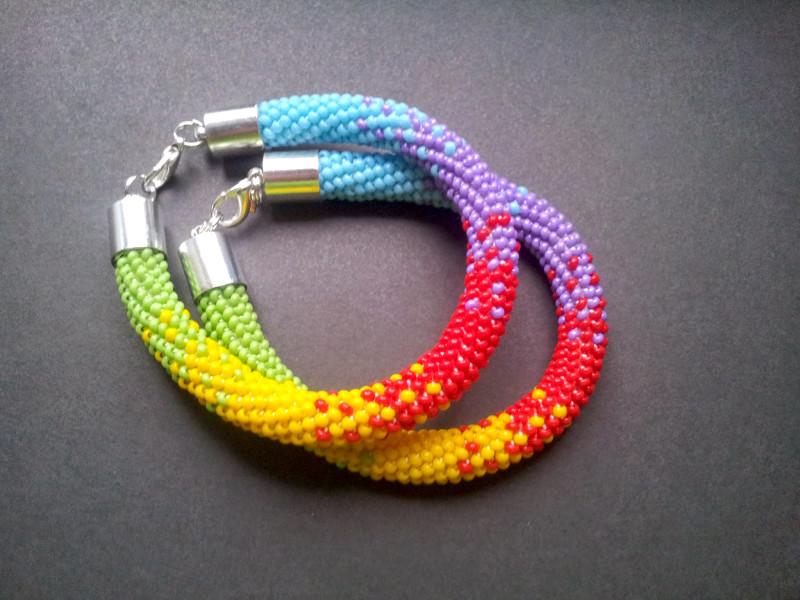 Круглые браслеты из бисера плетение