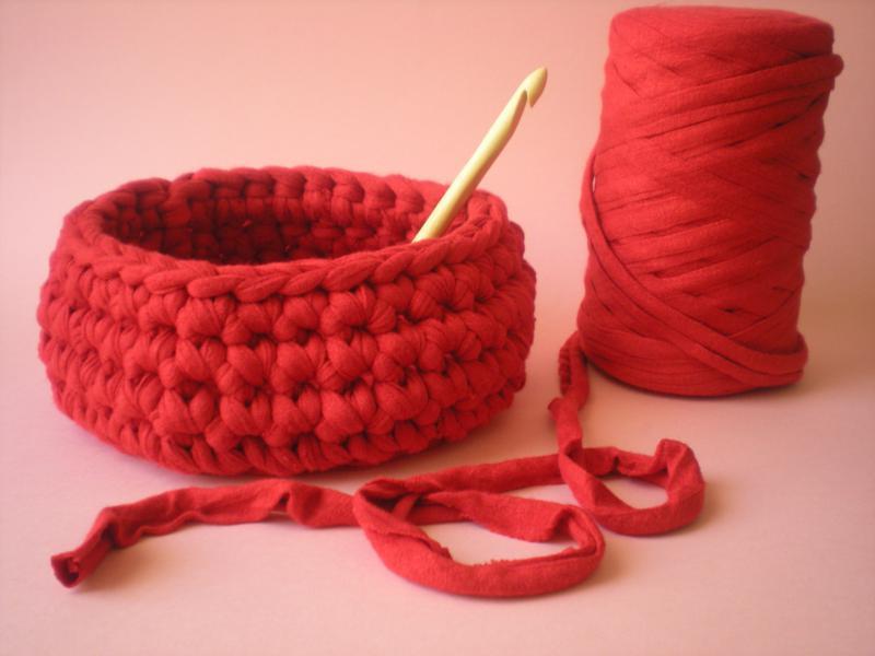 Вязание пряжей макароны 63
