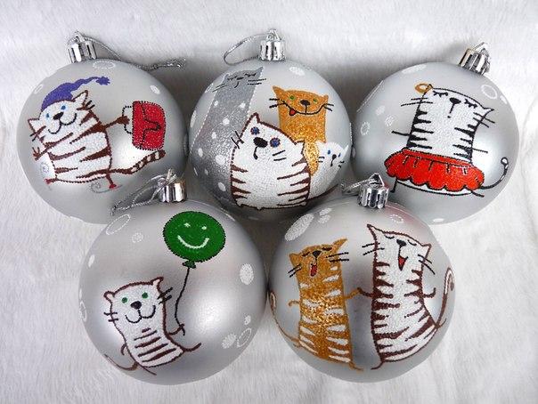 Роспись на шарах своими руками