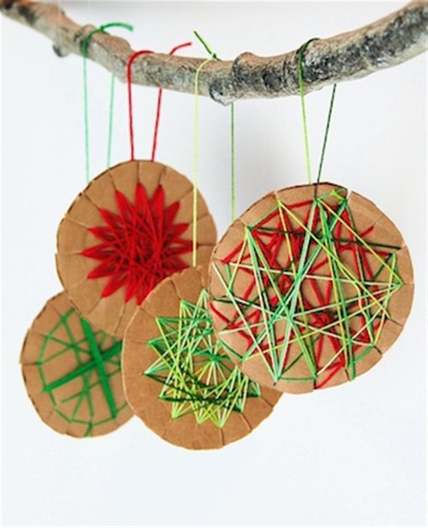 Елочная игрушка своими руками из картона или бумаги