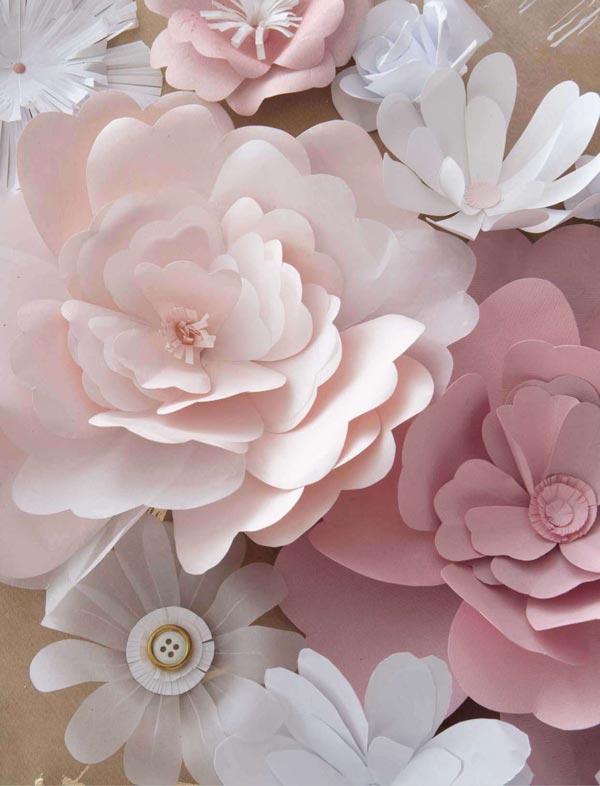 Цветы из белой бумаги своими руками