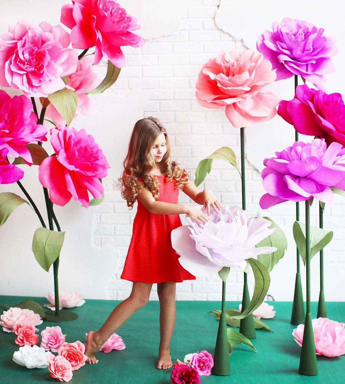 Мастер класс цветы из цветной бумаги своими руками