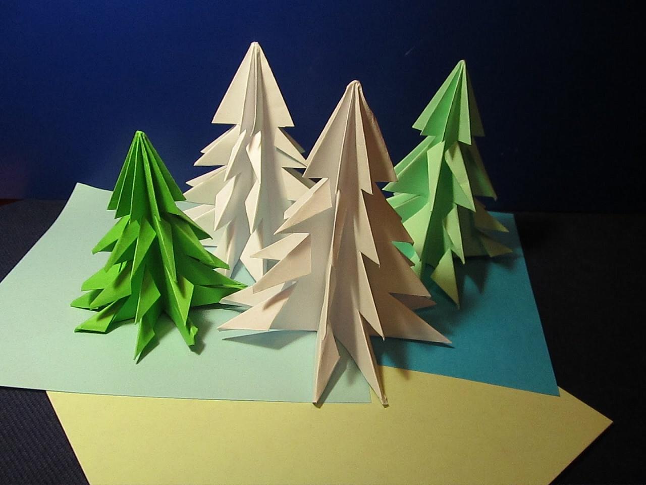 подделки из модулей со схемой сборки елка